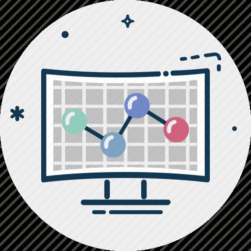 analytics, computer, diagram, infographics, online graph, web analytics icon