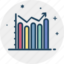 bar chart, bar diagram, bar graph, business analytics, statical information icon