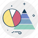 business chart, graph chart, pyramid chart, pyramid graph, triangle pattern, trigon icon
