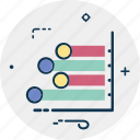 bar chart, financial chart, histogram, horizontal graph, statistics icon
