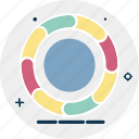 circular chart, donut chart, pie chart, pie graph, statistics icon