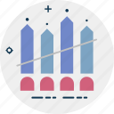 bar chart, bar graph, business chart, infographics, progress chart icon