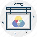 analysis, business, finance, graph, hanging graph, rounded graph icon