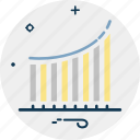 analytics, business chart, business graph, growth chart, statistics icon