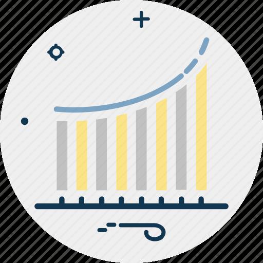 analytics, business chart, business graph, growth chart, statistics icon