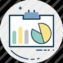 circular chart, diagram, graph report, pie chart, pie graph, statistics icon