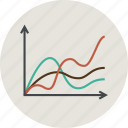 analytics, business, chart, data, graph, line, science, statistic icon