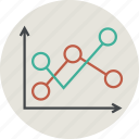 analytics, chart, circle, computer, diagram, graph, sales, statistic, statistics icon