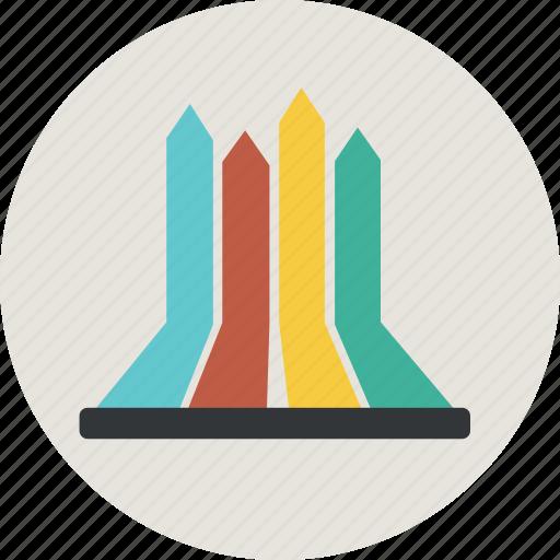 analytics, arrow, bar, chart, direction, finance, graph, money, statistic icon
