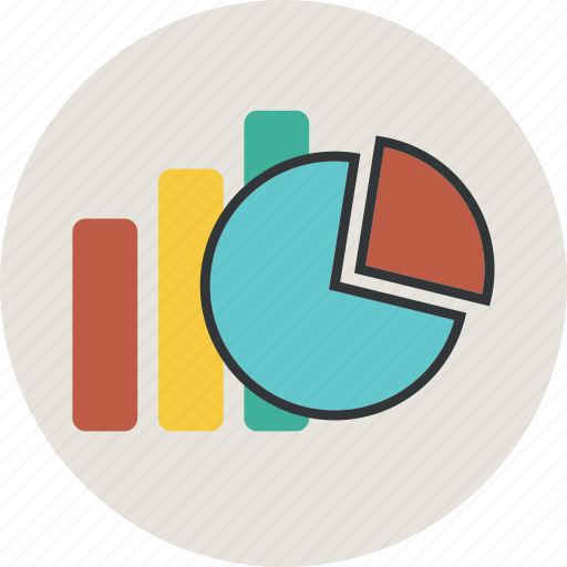 analytics, bar, bargraph, business, chart, circle, diagram, finance, graph, line, sector, statistic icon