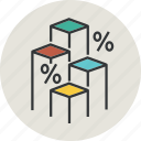 analytics, bar, bargraph, business, chart, diagram, finance, graph, line, percent, statistic icon