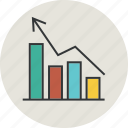 arrow, business, chart, graph, growth, revenue, statistic icon