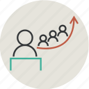 analysis, avatar, business, businessman, education, graph, growth, human, people, person, success icon