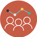 analysis, avatar, business, businessman, graph, growth, human, people, person, success, team icon