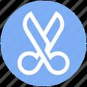 crop, cut, edit, graphic, scissor, tool, trim icon