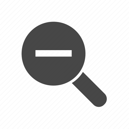 graphic, loupe, magnifier, magnify, out, tool icon