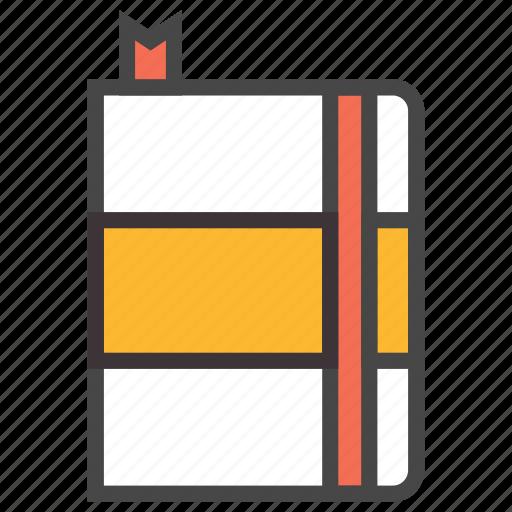 address, addressbook, agenda, book, contactbook, notebook, phonebook icon