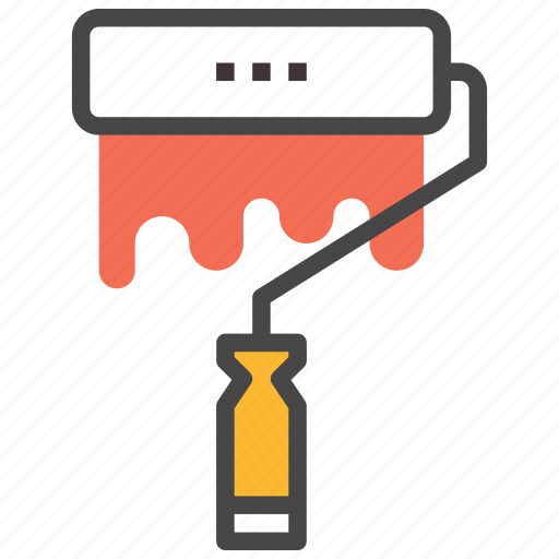 Art, paint, paint brush roller, roller icon - Download on Iconfinder