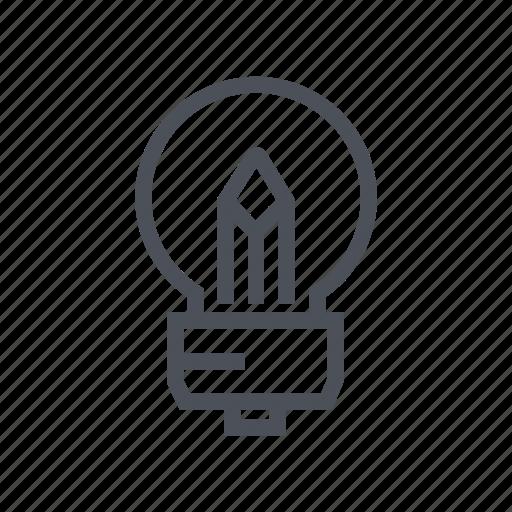 bulb, business, creative, design, idea icon