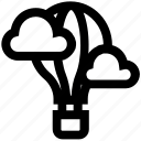 air, balloon, clouds, hot air, sky, travel, vacation icon