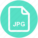 document, extension, file, format, image, jpg, media icon