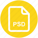 adobe, file, file extension, file format, file type, photoshop, psd icon