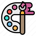 brush, color, design, paint, palette icon