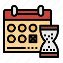 calendar, deadline, hourglass, planning, time icon
