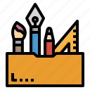 design, pen, pencil, ruler, tool icon