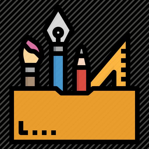 design, pen, pencil, ruler, tool icon