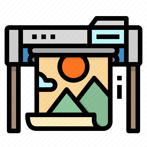 Electronics, paper, print, printer, printing icon - Download on Iconfinder
