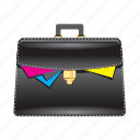 bag, briefcase, documents, paper, suitcase icon