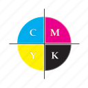 cmyk, color, design, palette, picker icon