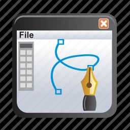 document, draw, edit, pen, pencil, program icon