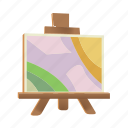 art, board, paint, painting, tool icon