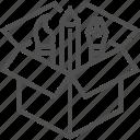 art, artisan, box, creative, design, design tools, draw icon