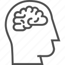 brain, brainstorm, creative, creativity, design, head, idea icon icon