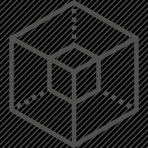 cubes, design, rectangle cubes icon