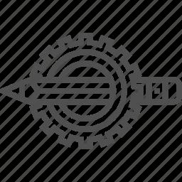 design, gear, pensil icon