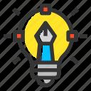 designer, creative, light, bulb, idea, pencil, graphic design