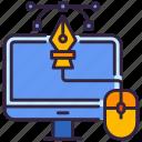 computer, design, graphic, monitor icon