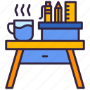 desk, table, tool, office icon