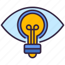 eye, lamp, vision, light icon