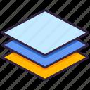 arrange, layer, design, layers icon