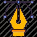 pen, tool, anchor, point icon