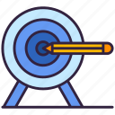 drawing, pencil, target, goal icon