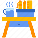 desk, table, tool