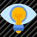 eye, lamp, vision icon
