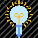 idea, lamp, pencil