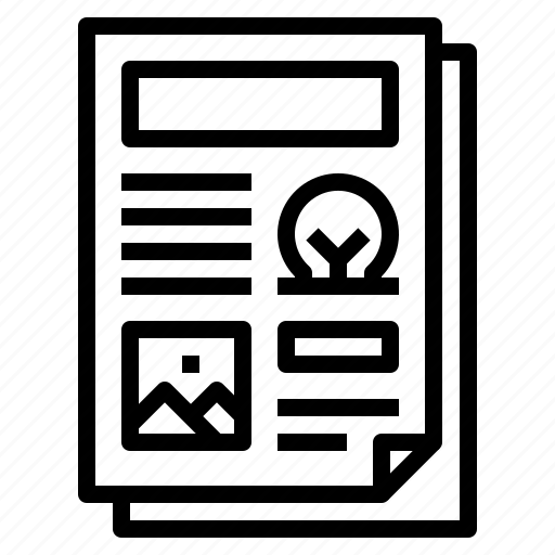 page, template icon